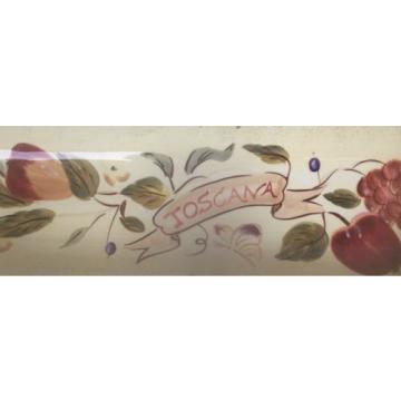 Certified International PAMELA GLADDING GARLIC BREAD or BREAD TRAY TOSCANA ITALI