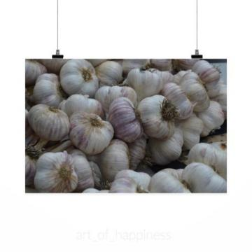 Stunning Poster Wall Art Decor Garlic Spice Market Food Healthy 36x24 Inches