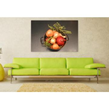 Stunning Poster Wall Art Decor Onion Thyme Rosemary Garlic Food 36x24 Inches
