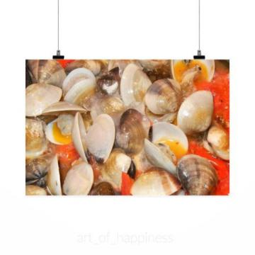 Stunning Poster Wall Art Decor Clams Tomatoes Olive Oil Garlic 36x24 Inches