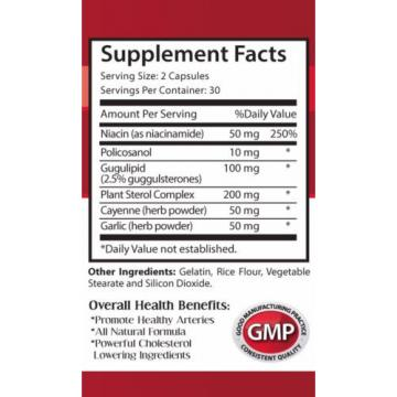 Garlic Vitamins - Cholesterol Relief 460mg - Helps Break Down Foods 3B