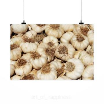 Stunning Poster Wall Art Decor Garlic Market Food Healthy Eat 36x24 Inches