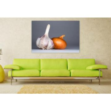 Stunning Poster Wall Art Decor Garlic Onion Food Spices Taste 36x24 Inches