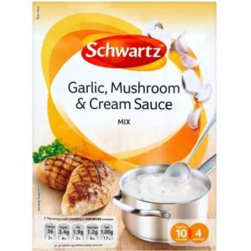Schwartz Garlic, Mushroom & Cream Sauce Mix (2x26g)