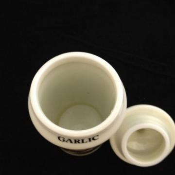 Vintage M J Hummel Garlic Spice Jar 1987 Porcelain Gold Trim