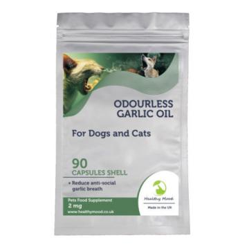 Odourless Garlic Oil 2mg Dogs and Cats Pets Supplement 30/60/90/120/180 Capsules