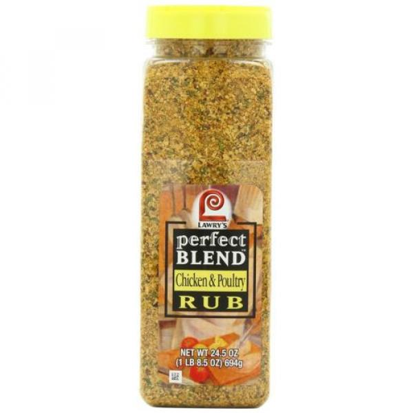 Lawrys Perfect Blend Chicken Rub, 24.5 Ounce chicken poultry flavors seasonings #1 image