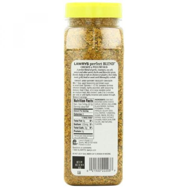 Lawrys Perfect Blend Chicken Rub, 24.5 Ounce chicken poultry flavors seasonings #2 image