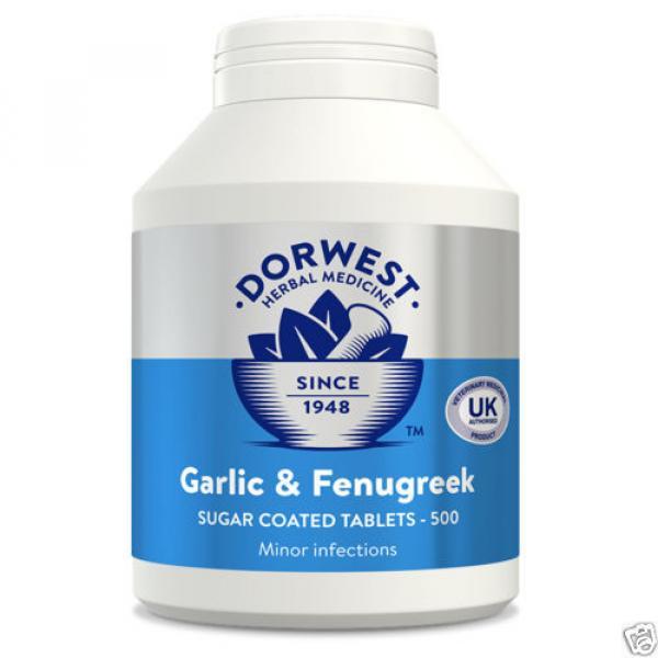 Dorwest Garlic & Fenugreek Tablets, 100's, 200's or 500's Herbal Medicines #3 image