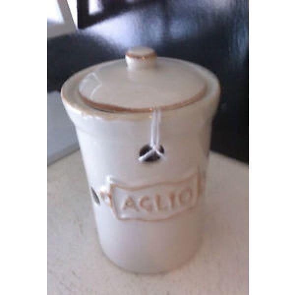 "Davis & Waddell Garlic Holder Ceramic Napoli ""Argeho"" #1 image"