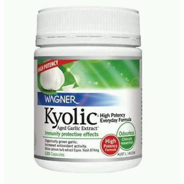 BEST PRICE! KYOLIC HIGH POTENCY GARLIC EXTRACT 120 CAPS  WAGNER -OzHealthExperts #1 image