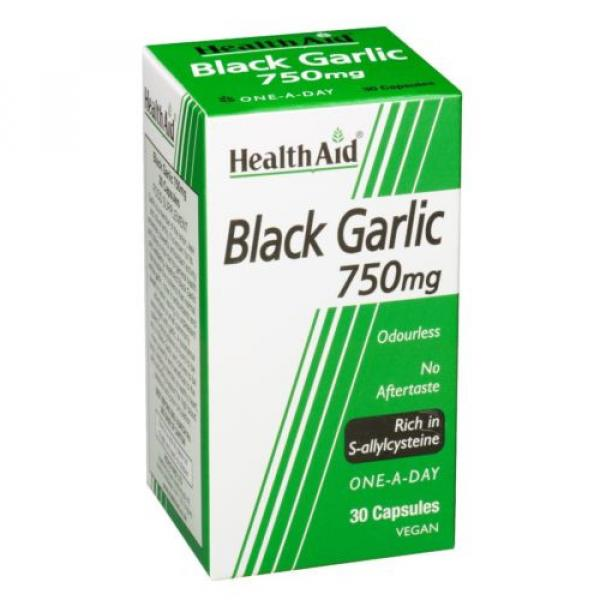 HealthAid Black Garlic 30 Vegicaps 750 mg NEW #1 image