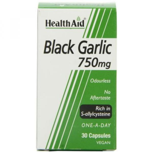 HealthAid Black Garlic 30 Vegicaps 750 mg NEW #3 image