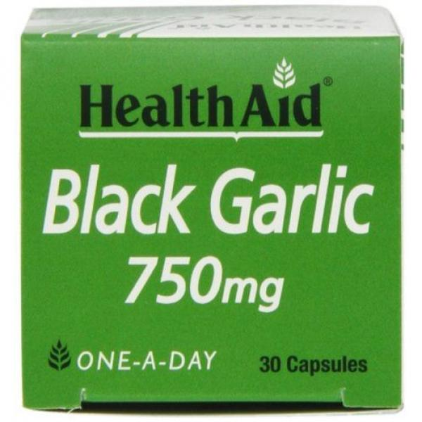 HealthAid Black Garlic 30 Vegicaps 750 mg NEW #5 image