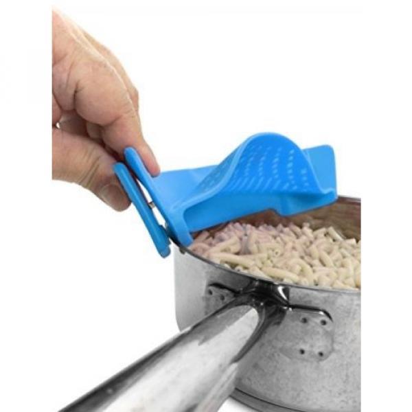 Clip On Kitchen Food Strainer Spaghetti Pasta Silicone Brush Set Garlic Peeler #5 image