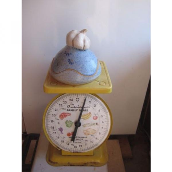 Vintage *** VICKI Signed *** Stoneware Garlic Roaster Kitchen Decor #5 image