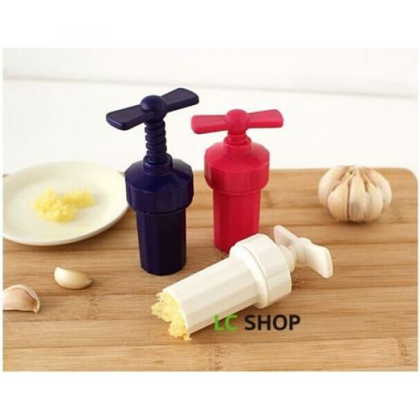 New Kitchen Plastic Garlic press Crusher Presser screw squeeze Color Random #1 image