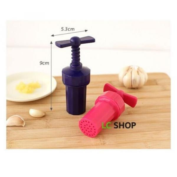 New Kitchen Plastic Garlic press Crusher Presser screw squeeze Color Random #2 image