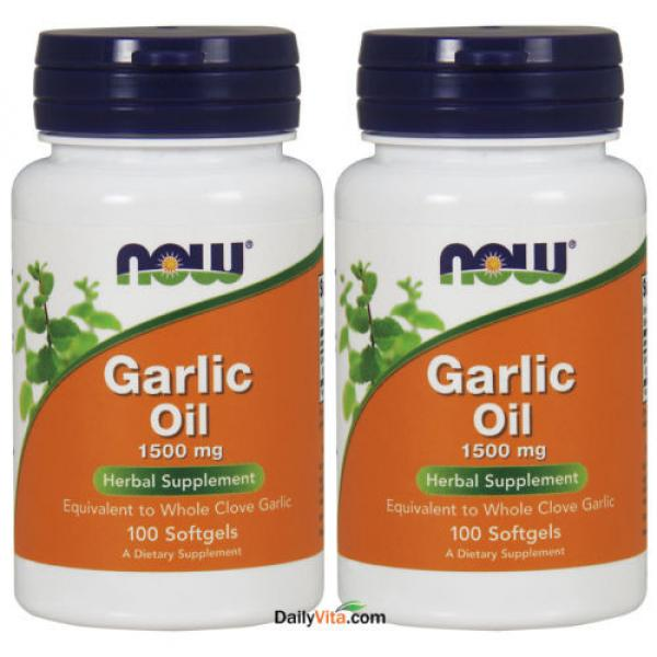 2 x NOW FOODS Garlic Oil Triple 3 x Strength 1500 mg 100 SGels FRESH MADE IN USA #1 image