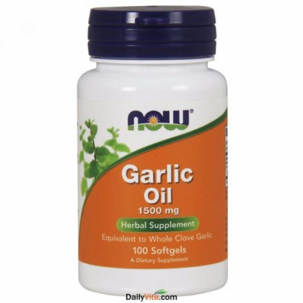 2 x NOW FOODS Garlic Oil Triple 3 x Strength 1500 mg 100 SGels FRESH MADE IN USA #2 image