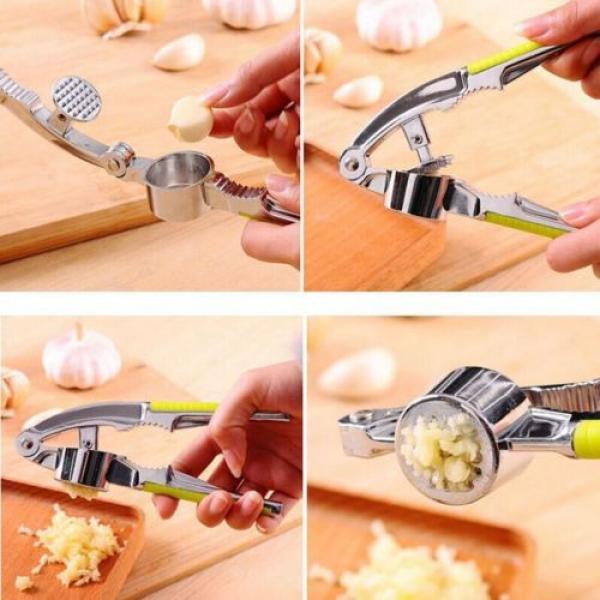 Garlic Press Hand Presser Crusher Ginger Squeezer Slicer Masher Kitchen Tool #4 image
