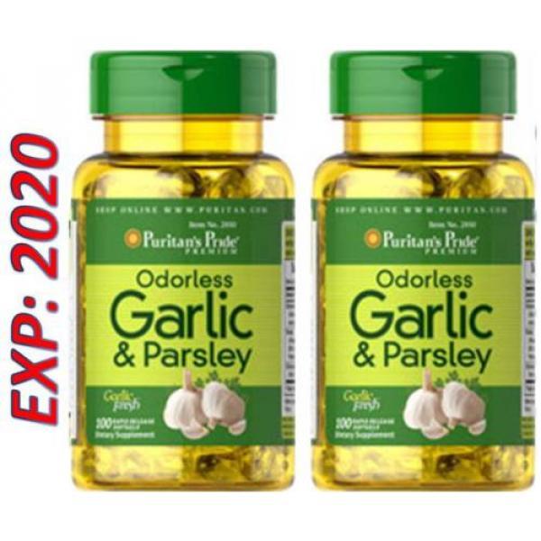 Odorless Garlic and Parsley - Vitamin D3 5000 mg 100 X 2=200 Pills Cholesterol #5 image