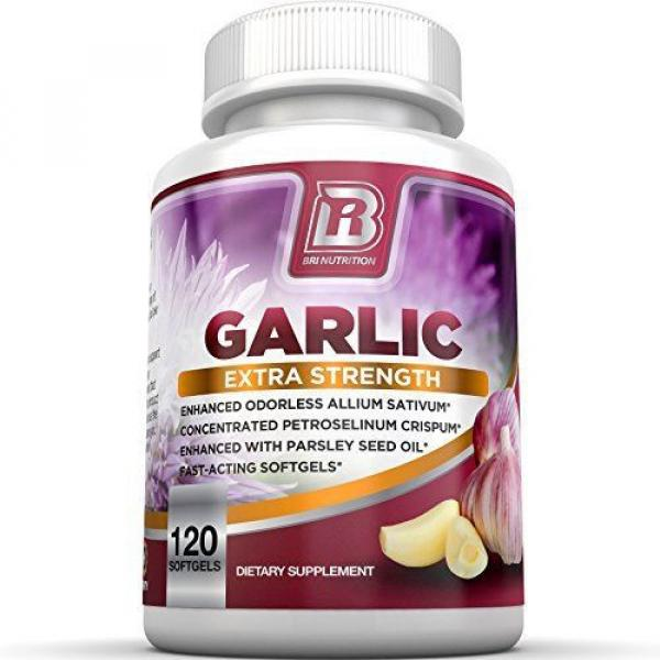 BRI Nutrition Odorless Garlic - 120 Softgels - 1000mg Pure And Potent Garlic ... #1 image