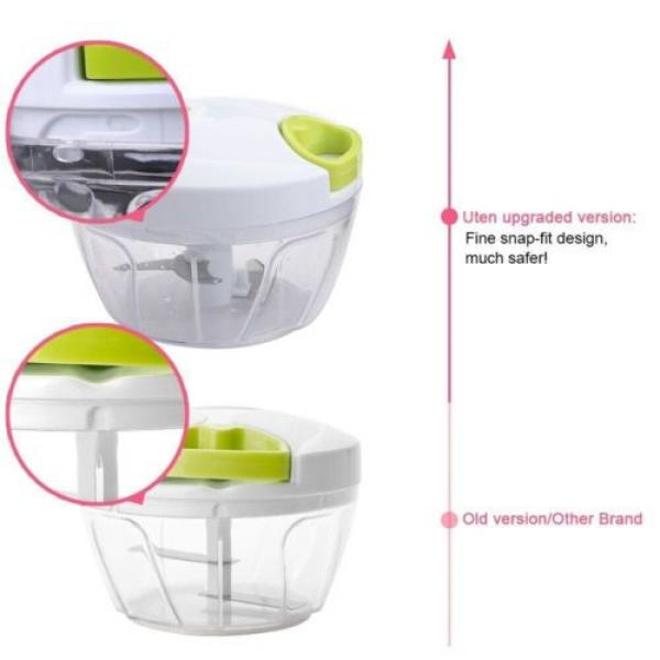 Uten® Kitchen Mini Chopper Food Pull Processor - for Vegetable, Fruit, Garlic #3 image