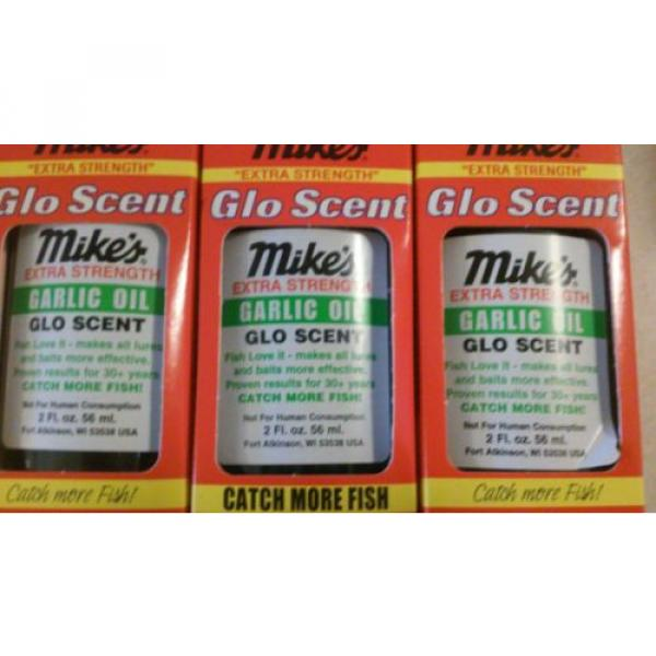 Mike's Extra Strength Glo Scent Garlic Oil 7004 2 FL OZ. Lot of 3 #2 image