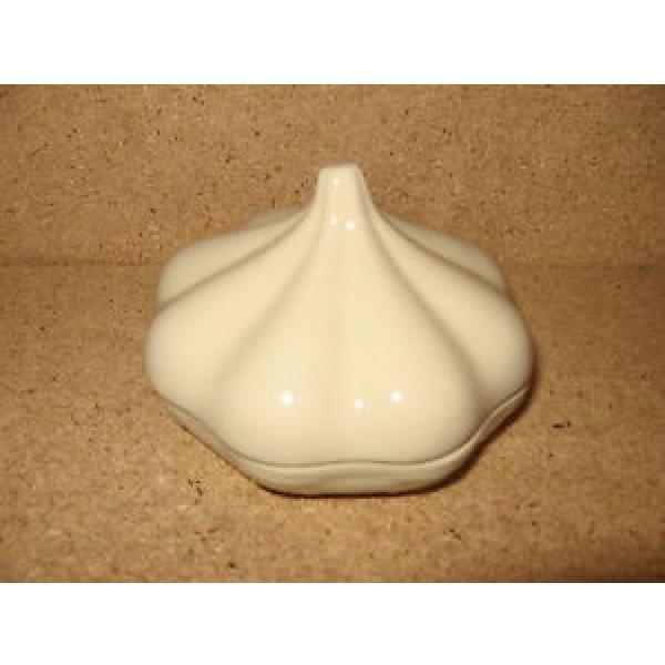 Longaberger RARE Garlic Pottery Baker Roaster Ivory Cream Mint never used no box #1 image