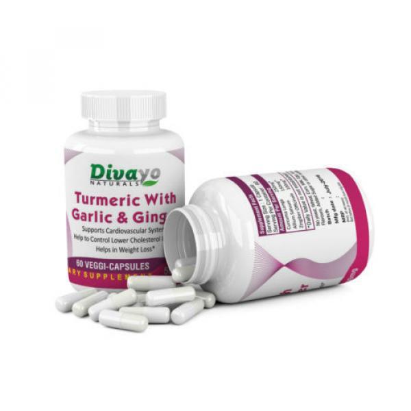 Turmeric with Garlic & Ginger Capsules 500 mg #2 image