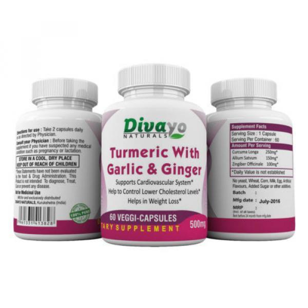 Turmeric with Garlic & Ginger Capsules 500 mg #3 image