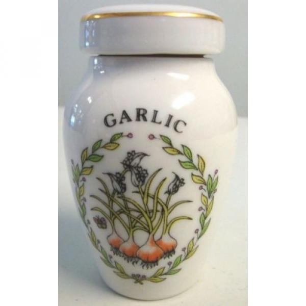 Gloria Concepts Fine Porcelain Spice Lidded Jar Garlic Japan #1 image