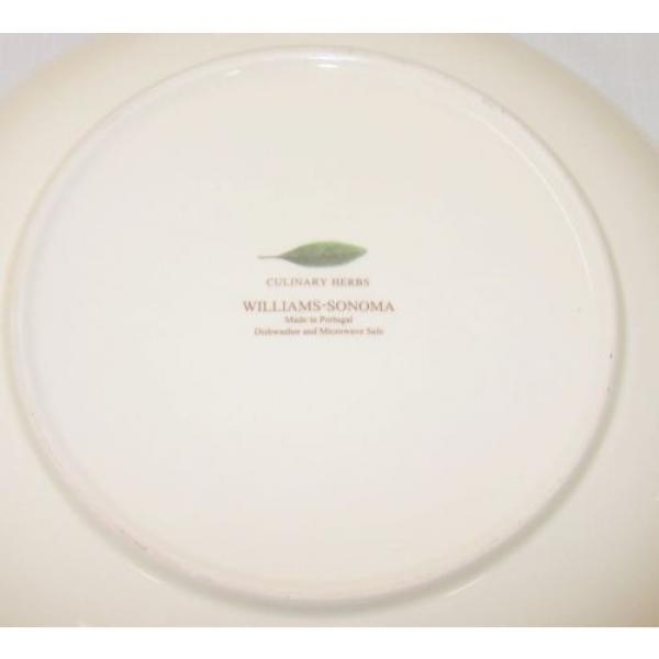 "Williams Sonoma pasta serving bowl 13"" Culinary Herbs Flower Clove Garlic #3 image"
